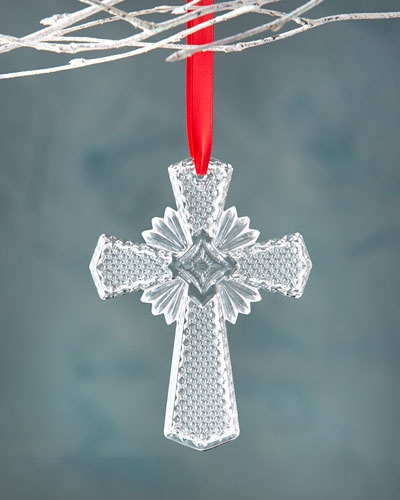 Waterford Crystal Annual Cross Christmas Ornament