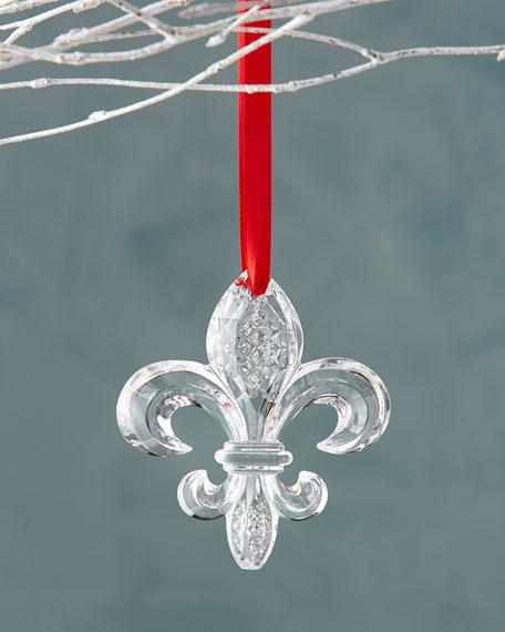 - Waterford Fleur-de-Lis Christmas Ornament