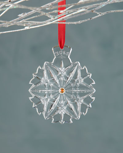 Waterford Crystal 2014 Snowflake Wishes Christmas Ornament