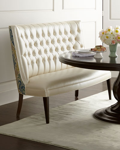 Haute house tiffany banquette for Makeup by tiffany d dining room