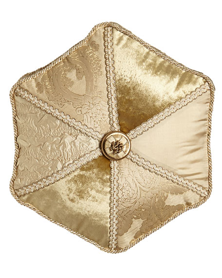 Dian Austin Couture Home Geneva Pieced Tambourine Pillow,