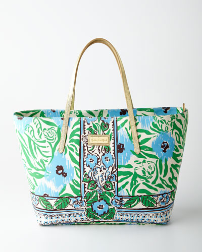 Lilly Pulitzer Sea Oat Ikatty Resort Tote