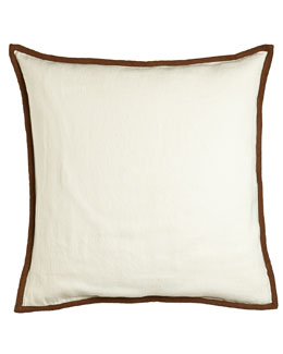 "Ralph Lauren Home Bellosguardo Cream/Taupe European Sham, 26""Sq."