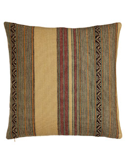 "Ralph Lauren Home Bellosguardo Striped Pillow, 20""Sq."