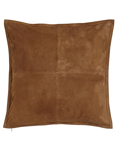 "Ralph Lauren Home Suede Pillow, 18""Sq."