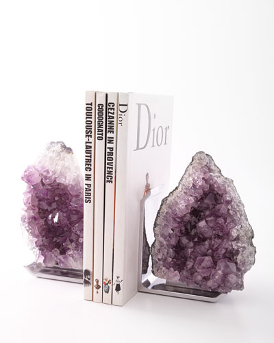 FIM Amethyst Bookends