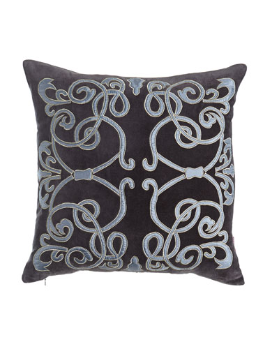 Cosmopolitan Chic Scroll Pillow