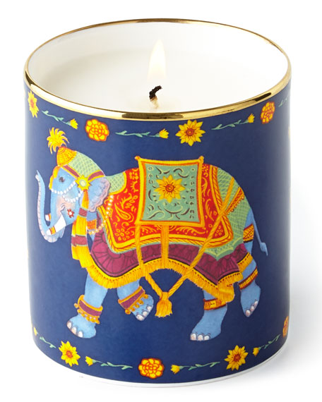 Halcyon Days Indian Elephant Filled Candle