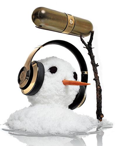 Beats By Dr. Dre Golden Beats On-Ear Headphones & Pill Speaker
