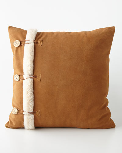 """Ugg for Home Bailey Button Pillow, 20""""Sq."""