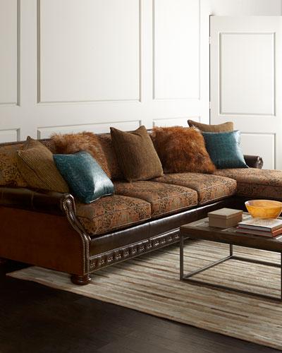 massoud autumn jade sectional sofa