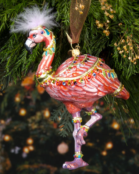 Jay Strongwater Flamingo Christmas Ornament