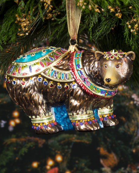 - Jay Strongwater Grizzly Bear Christmas Ornament