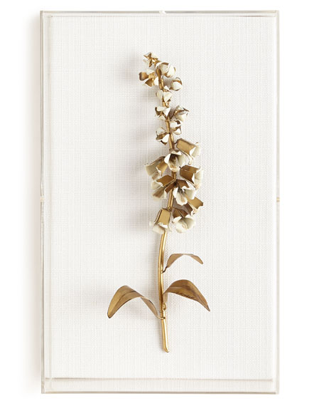 Tommy Mitchell Original Gilded Foxglove Study on Linen