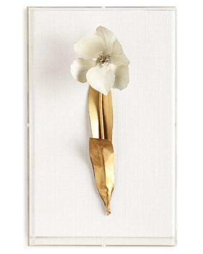 Gilded Single Tulip Study on Linen