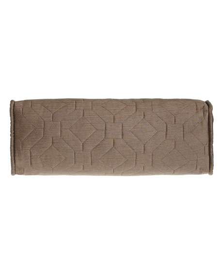 Couture Geometric Neckroll Pillow, 19