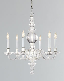 VISUAL COMFORT George II Small Polished-Nickel Chandelier