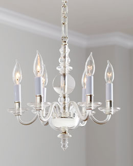 VISUAL COMFORT George II Polished-Nickel Mini Chandelier