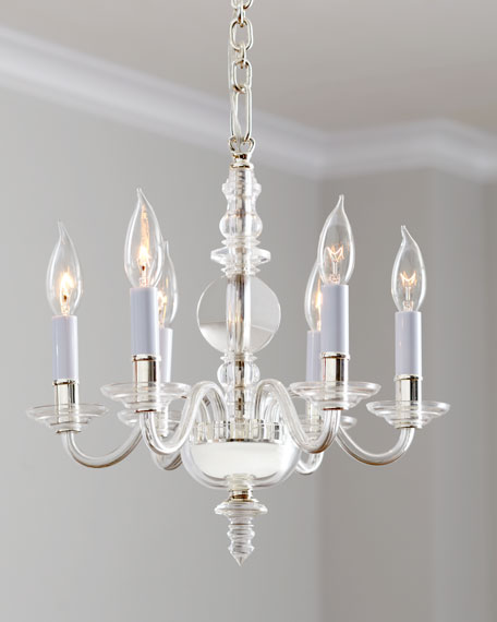 Visual Comfort George II Mini 6-Light Polished-Nickel Chandelier