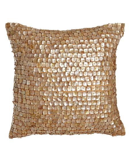 """Mother-of-Pearl Pillow, 18""""Sq."""