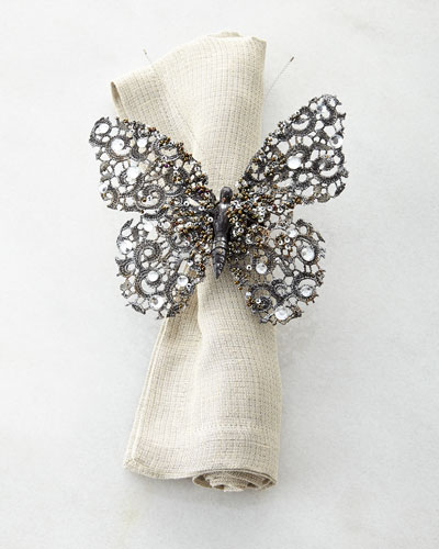 Lace Butterfly Napkin Ring