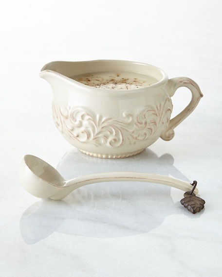 G G Collection Sauce Boat with Ladle