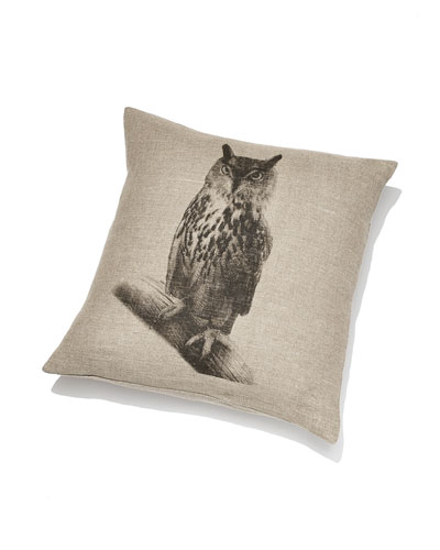 "Pine Cone Hill ""Hoot"" Pillow"