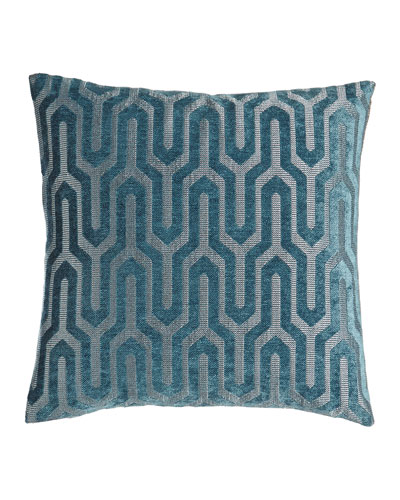 "Cantrice Turquoise Pillow, 18""Sq."
