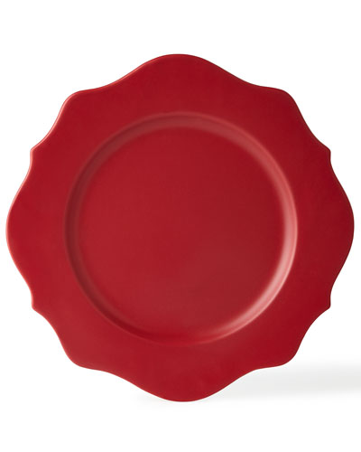 Four Red Splendor Charger Plates