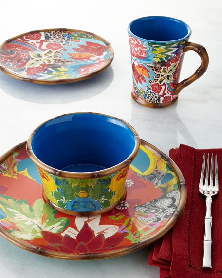 16-Piece Hand-Painted Dinnerware Service & Poetic Wanderlust 16-Piece Hand-Painted Dinnerware Service | Neiman ...