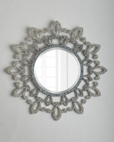 Fleur-De-Lis Lace Mirror