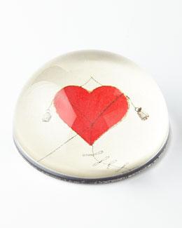 John Derian Heart Kite Dome Paperweight