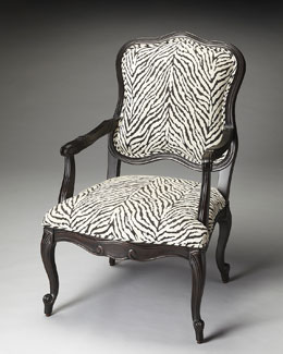 Zebra Accent Chair