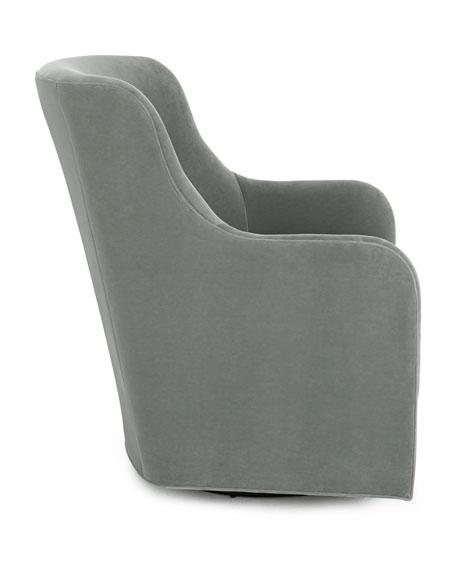 Cali St. Clair Aqua Velvet Swivel Chair