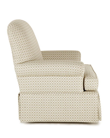 Lynn St. Clair Oyster-Print Swivel Chair