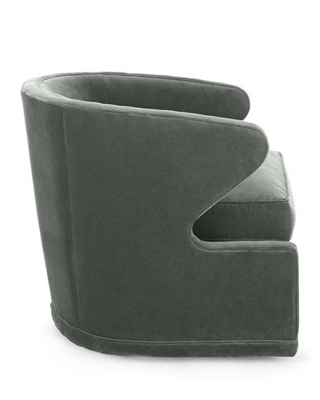 Dyna St. Clair Aqua Velvet Swivel Chair