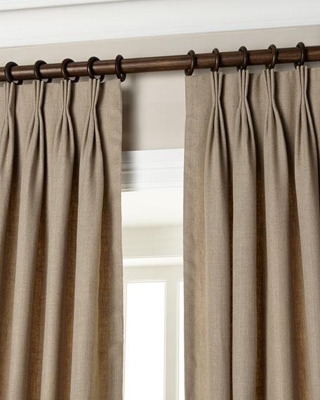 "Each 20""W x 108""L Pinch-Pleat Linen Curtain"