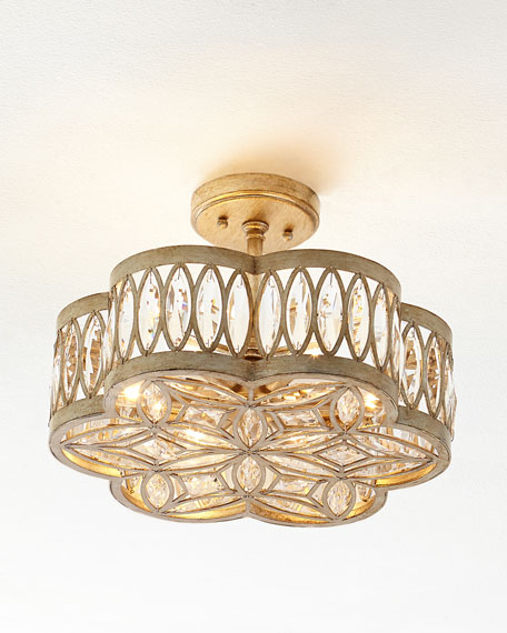 John richard collection diamante six light semi flush ceiling light neiman marcus