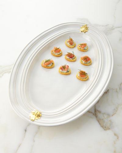 Acanthus Gold Large Platter