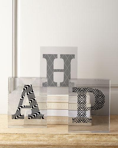 Jonathan Adler Lucite Letter Blocks