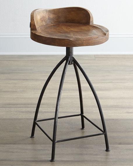 Wood Swivel Counter Stool