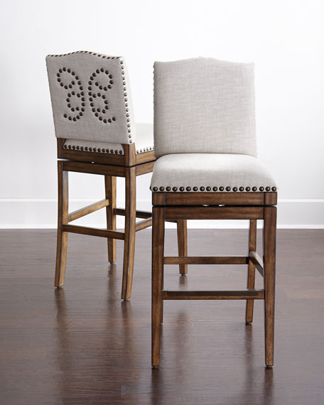 Neimanmarcus Shepard Swivel Counter Stool