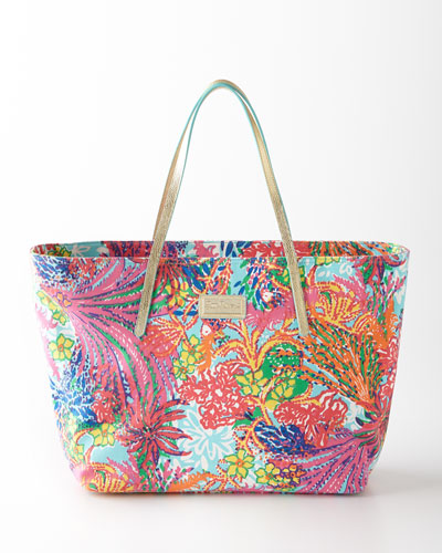 Lilly Pulitzer Multicolored Fishing Resort Tote