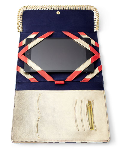 Navy Trunk Show iPad Case