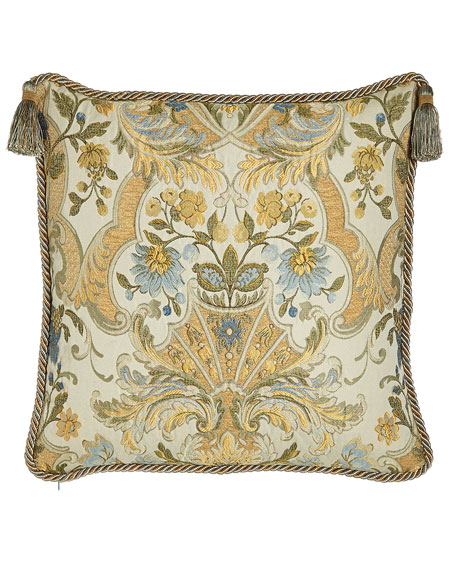 """Manor Pillow with Tassels, 20""""Sq."""