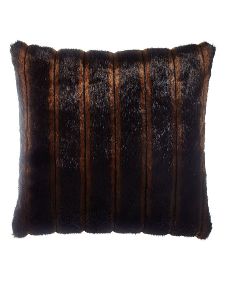 Sweet Dreams Faux-Fur Pillow, 18