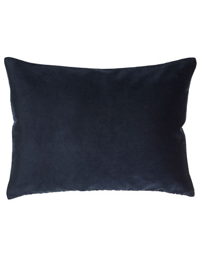 "Ralph Lauren Home Blue Velvet Pillow, 15"" x 20"""