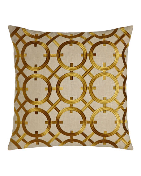 Crisanto Citron Embroidered Pillow