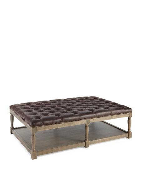 Marianna Leather Ottoman