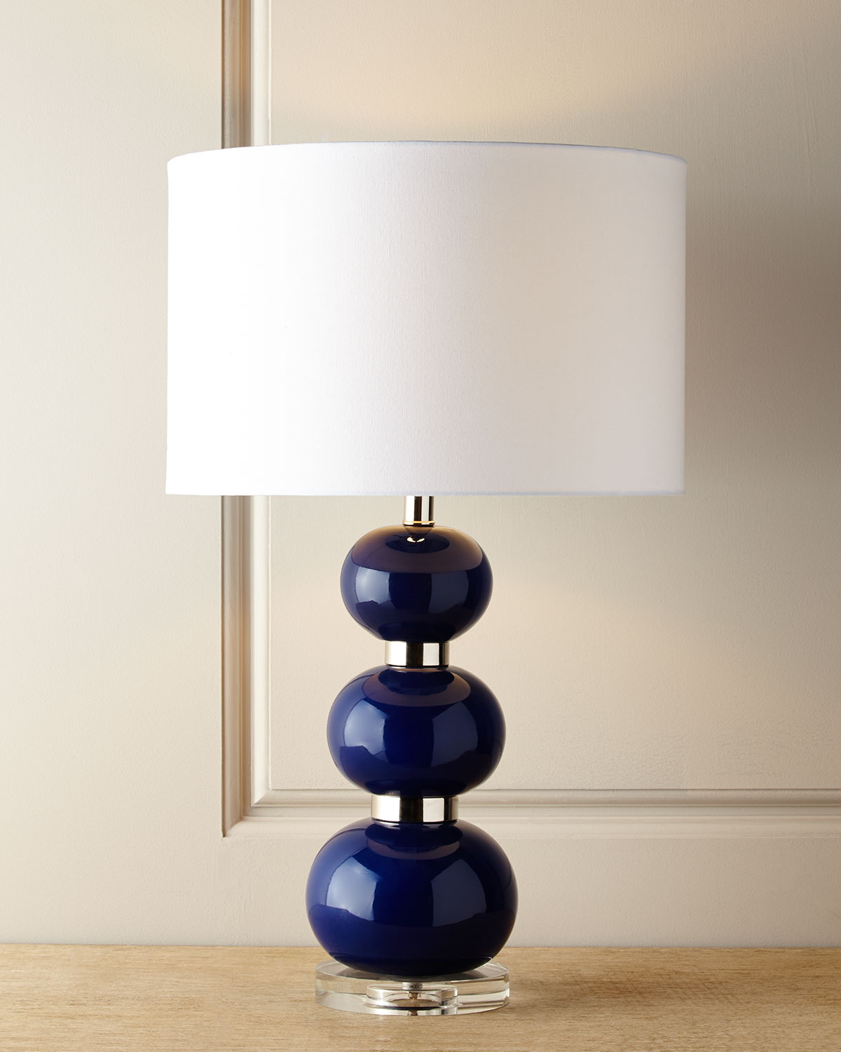 navy table lamp modern blue shelby navy table lamp neiman marcus